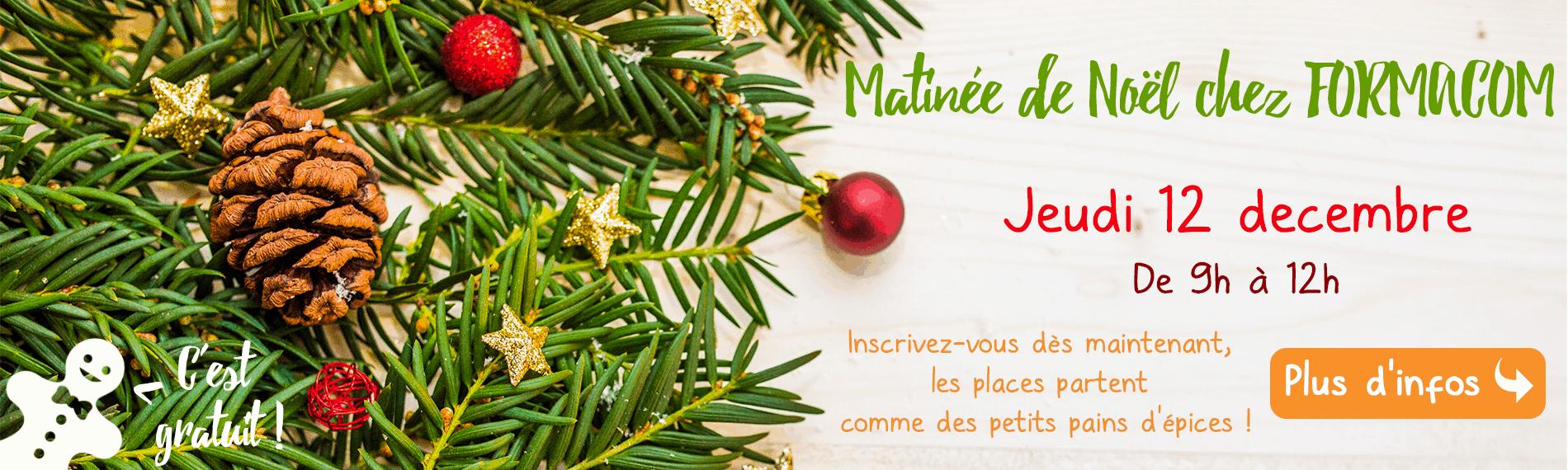 Matinée de Noël chez FORMACOM Nantes - Ateliers, pains d'épices et chocolats chauds
